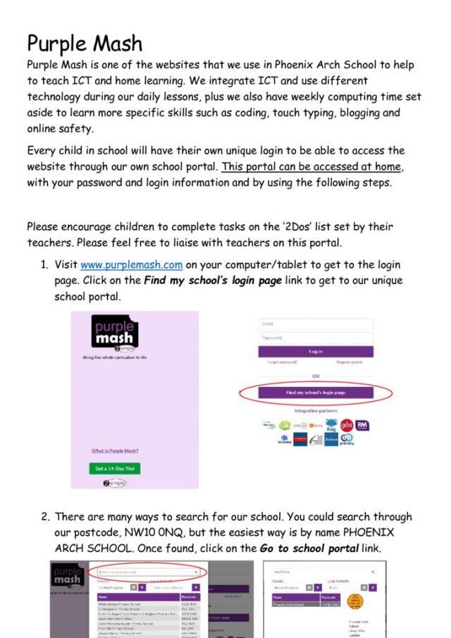 thumbnail of purple mash letter